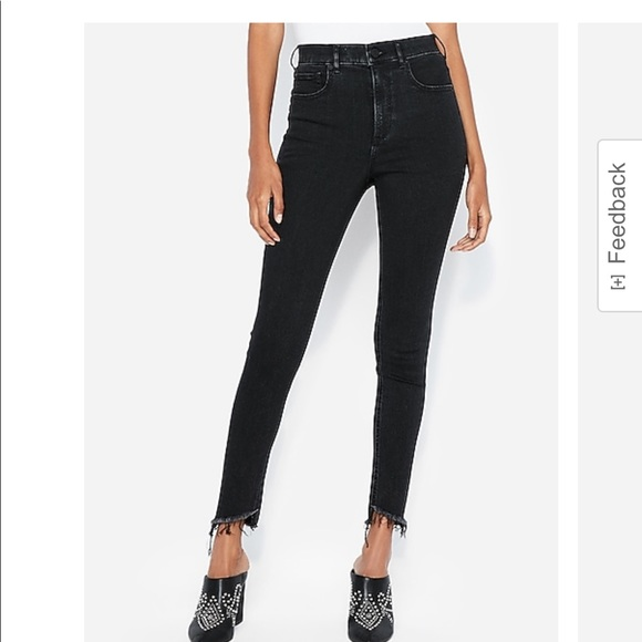 EXPRESS SUPER HIGH WAISTED SKINNY JEANS